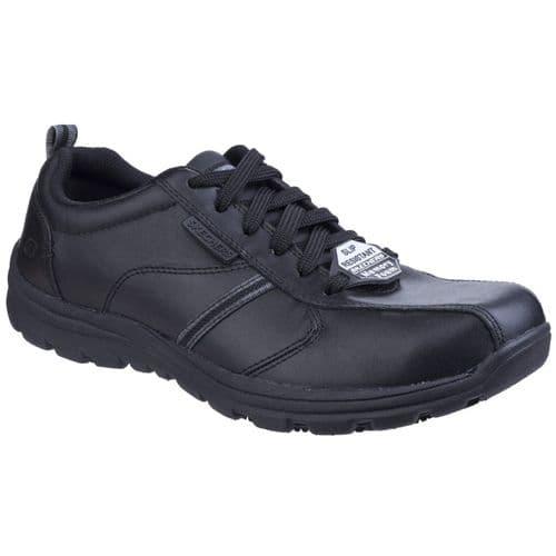Skechers Hobbes Frat Mens Occupational Footwear Black